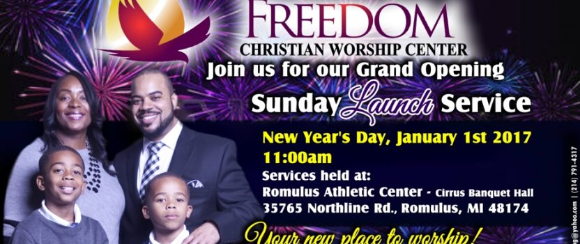 Sunday Grand Opening Service