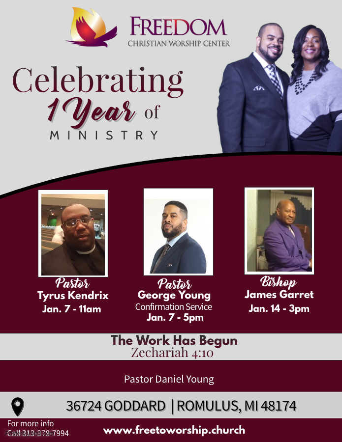 Celebrating 1 Year of Ministry